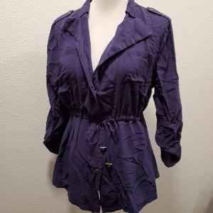 Umgee Blue Button up or Lightweight Jacket